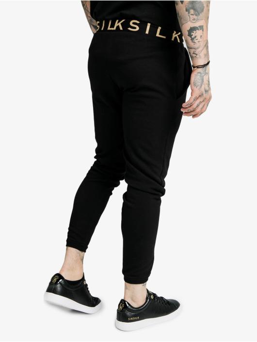 Sik Silk Spodnie do joggingu Siksilkelastic Jacquard czarny