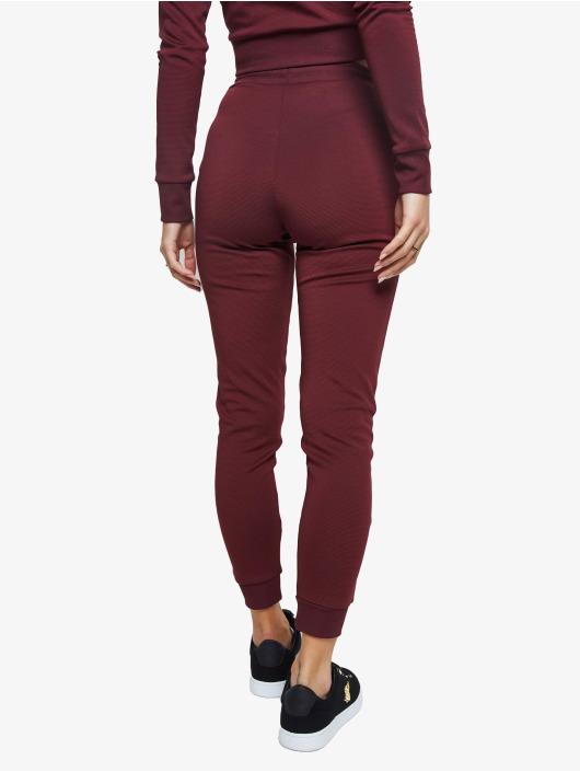 Sik Silk Spodnie do joggingu Eyelet Mesh czerwony