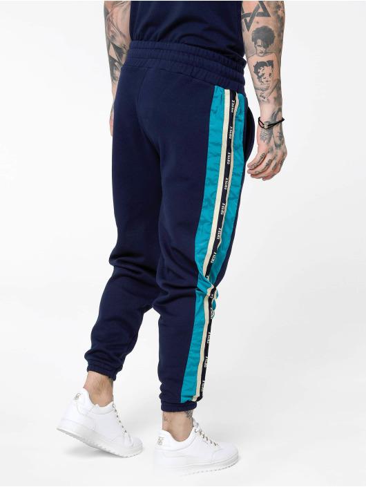 Sik Silk Spodnie do joggingu Panel Piped Taped niebieski