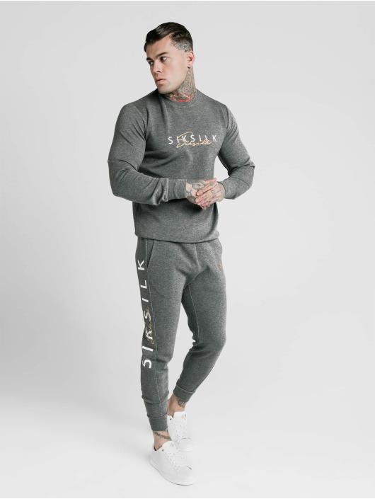 Sik Silk Spodnie do joggingu Fitted Signature szary