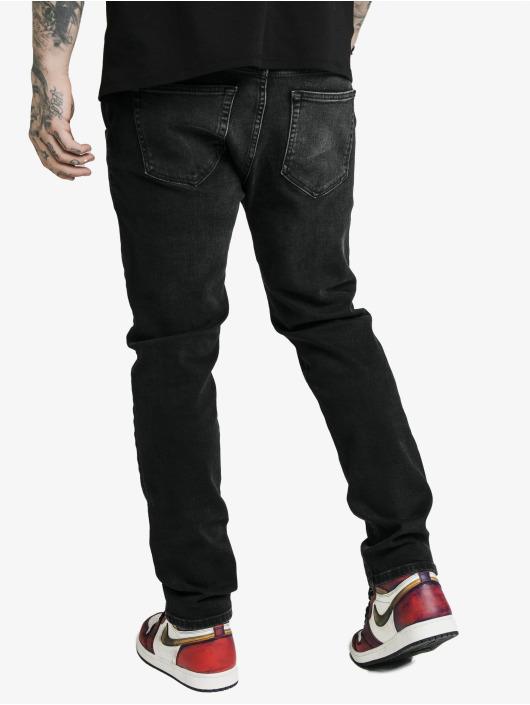 Sik Silk Straight Fit Jeans Cut Recycled Denim schwarz