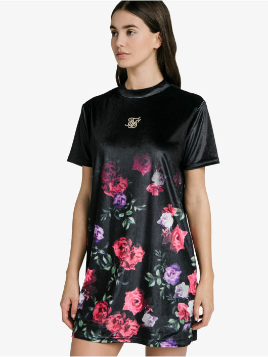 Sik Silk Sukienki Velour Oil czarny