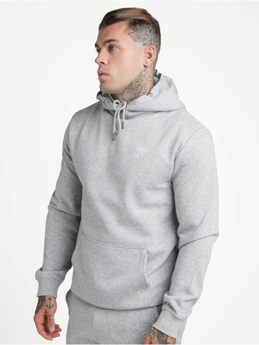 Sik Silk Sweat capuche Muscle Fit Overhead gris