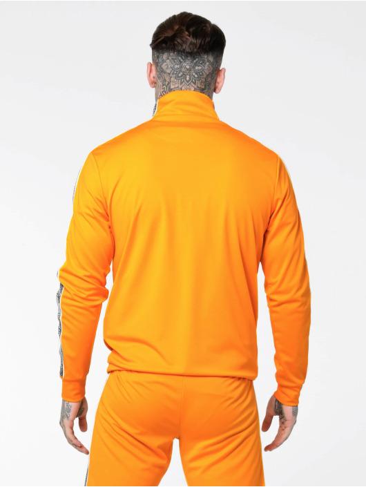Sik Silk Sweat capuche 1/4 Zip Overhead Runner orange