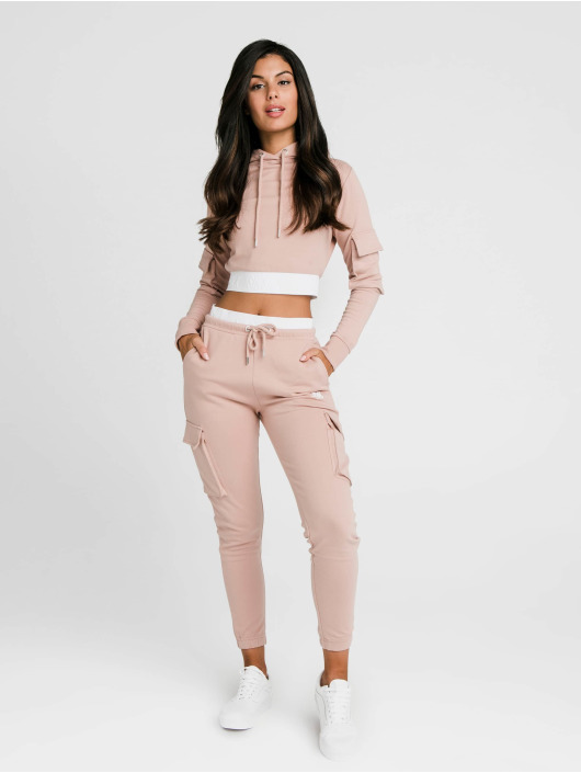Sik Silk Sweat capuche Cargo Pocket Cropped rose