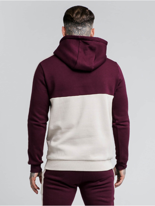 Sik Silk Sweat capuche Cut And Sexy Taped Overhaed rouge
