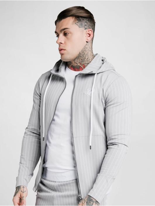 Sik Silk Sweat capuche zippé Dual Stripe Agility gris