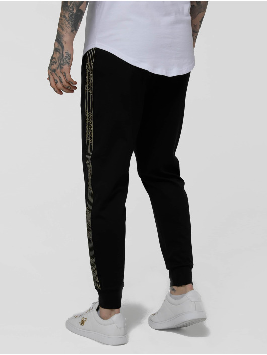 Sik Silk Sweat Pant Golden Edit Cuffed Cropped Runner black
