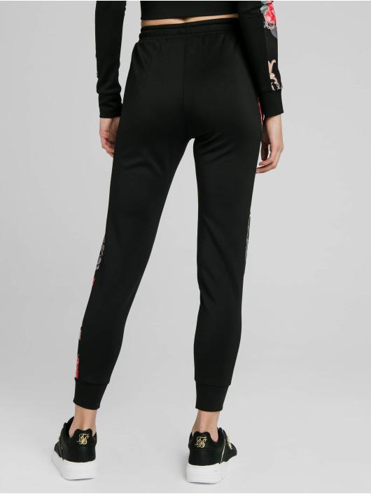 Sik Silk Sweat Pant Floral Elegance black