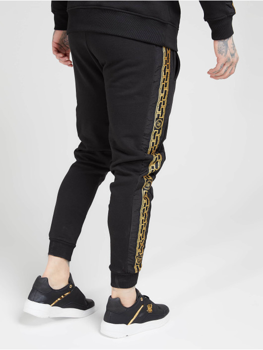 Sik Silk Sweat Pant Muscle Fit Nylon Panel black