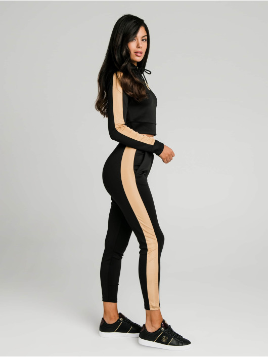 Sik Silk Sweat Pant Satin Panel black
