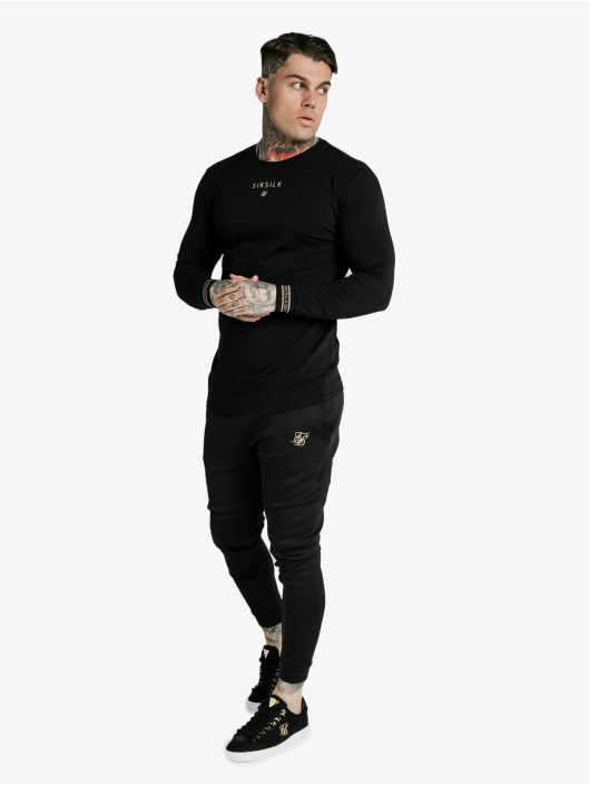 Sik Silk Sweat Pant Element Muscle Fit Cuffs black