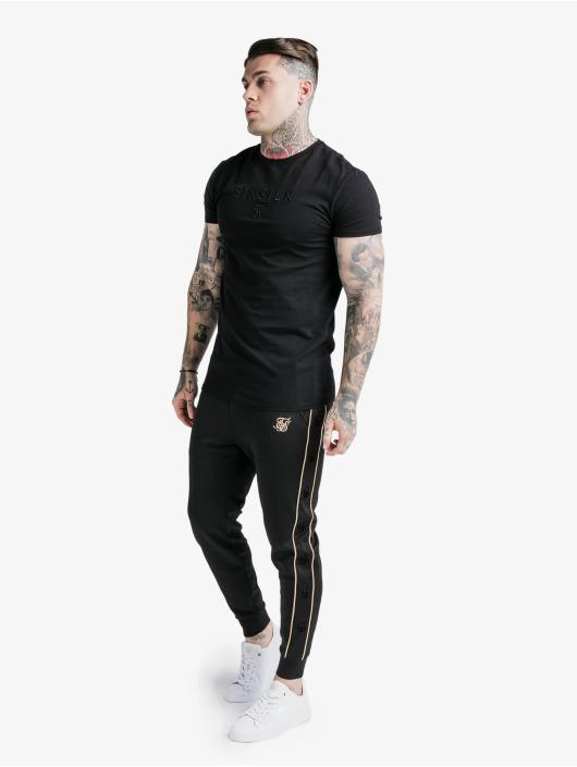 Sik Silk Sweat Pant Astro Cuffed black