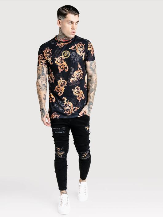 Sik Silk T-paidat Reverse Collar musta