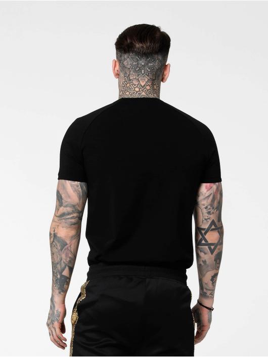 Sik Silk T-paidat Raglan Foil Fade Gym musta