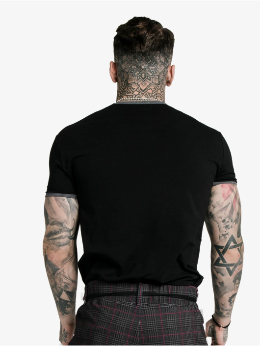 Sik Silk T-paidat S/S Ringer Gym musta