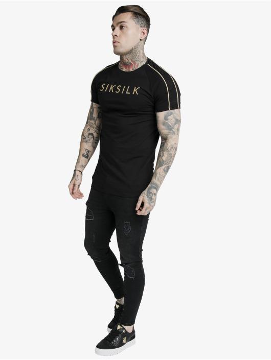 Sik Silk T-paidat S/S Astro Raglan Gym musta