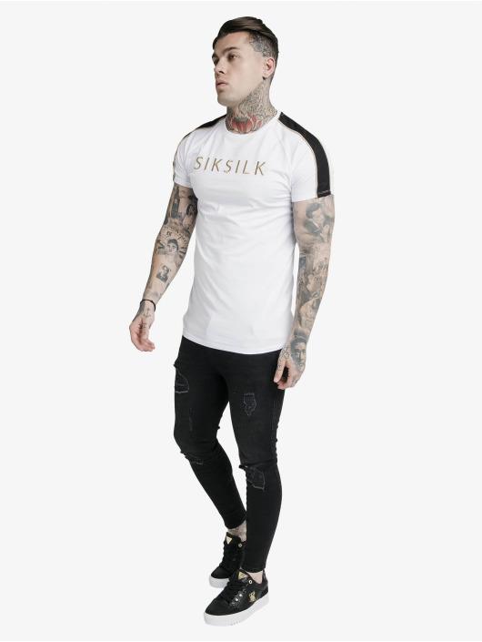 Sik Silk T-paidat S/S Astro Raglan Gym valkoinen