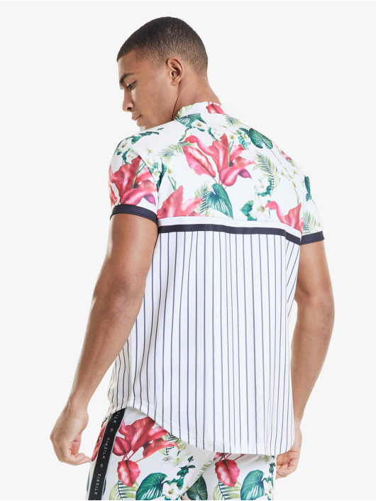 Sik Silk T-paidat Retro Tropics Baseball valkoinen