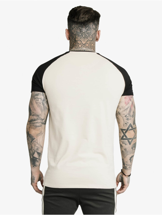 Sik Silk T-Shirt Raglan Premium Tape Gym beige