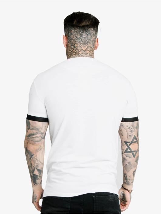 Sik Silk T-shirt Inset Elastic Cuff Gym bianco