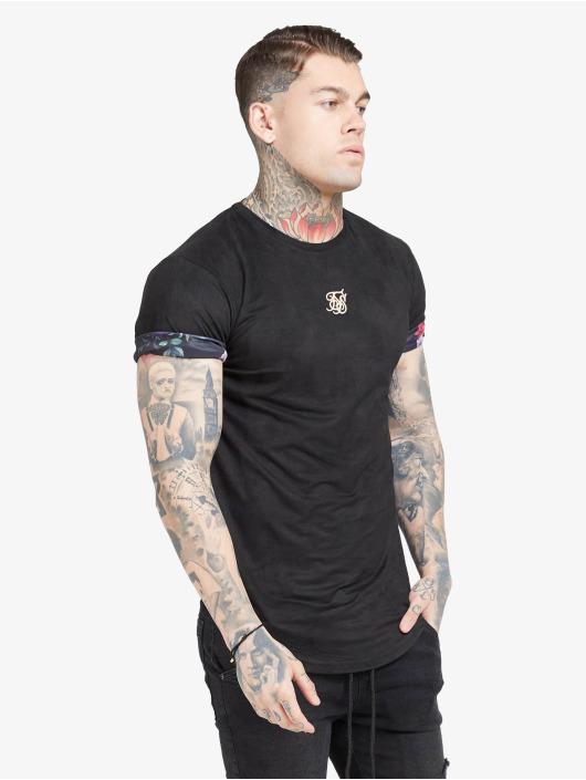 Sik Silk T-Shirt Roll Sleeve black