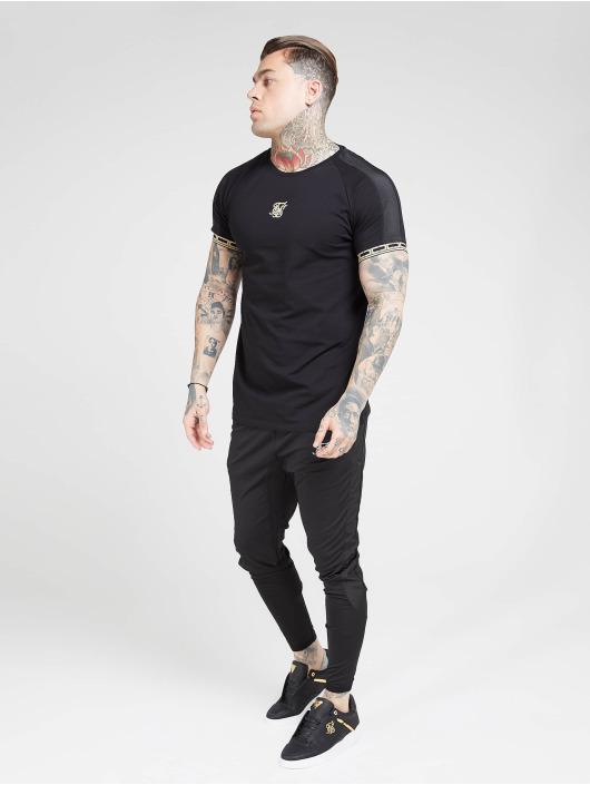 Sik Silk T-Shirt Raglan Straight Hem Tape Gym black