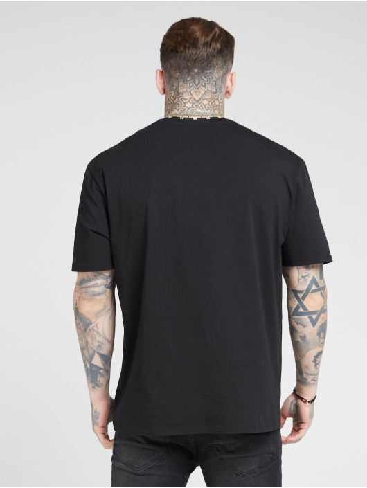 Sik Silk T-Shirt Collar Essential black
