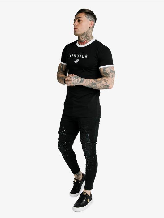 Sik Silk T-Shirt Hem Gym black