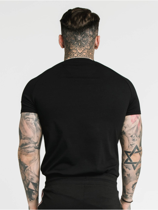 Sik Silk T-Shirt Raglan Gym black
