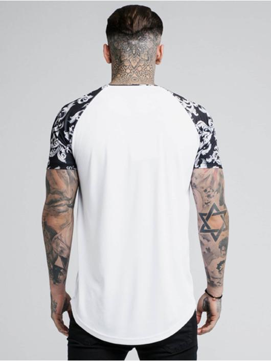 Sik Silk T-Shirt Silvern Venetian Raglan blanc