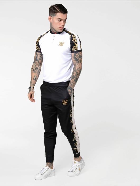 Sik Silk T-Shirt Baseball blanc