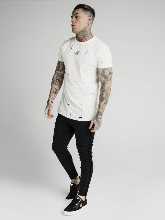 Sik Silk T-Shirt Distressed Box blanc
