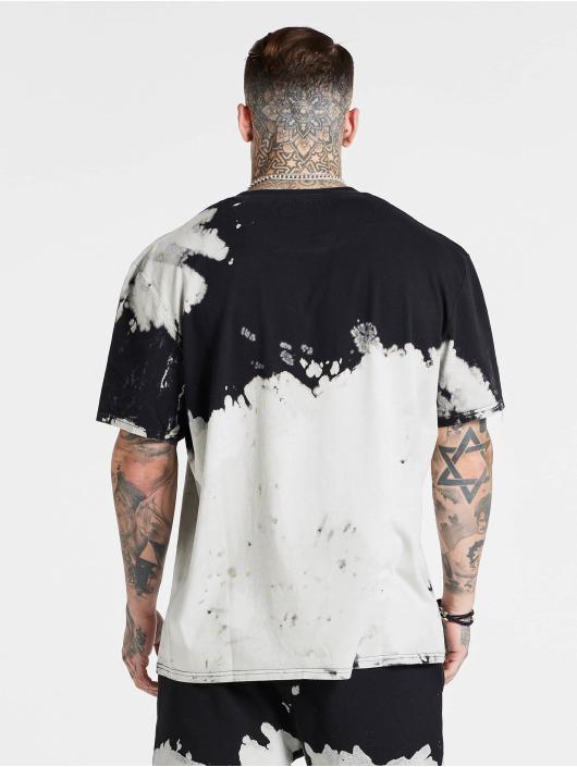 Sik Silk T-Shirt X Steve Aoki Bleach Wash Oversized blanc