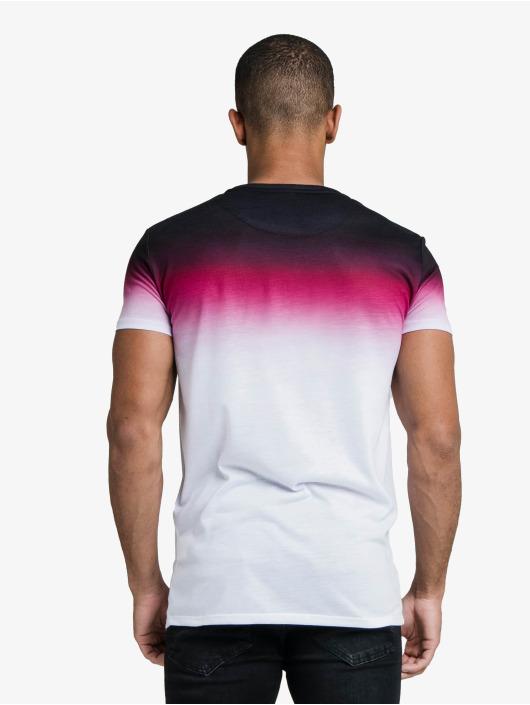 Sik Silk T-Shirt High Fade Embroidery Gym blanc