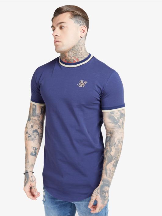 Sik Silk T-Shirt Rib Gym blau