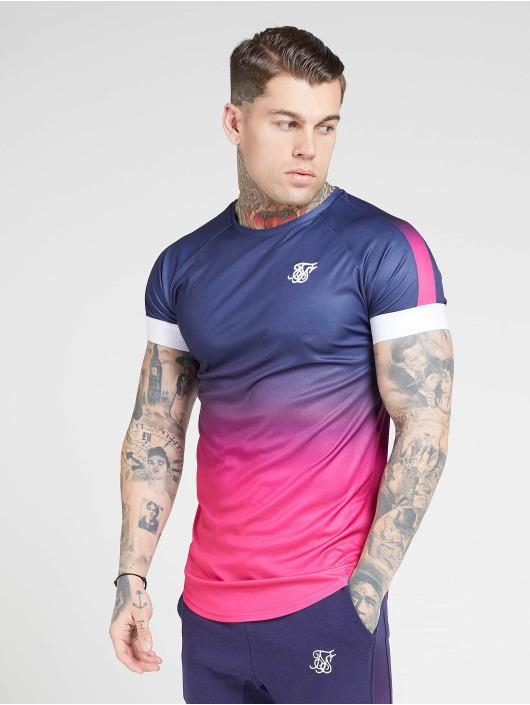Sik Silk T-Shirt Fade Panel Tech blau