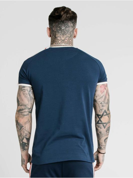 Sik Silk T-Shirt Retro Tape Gym blau