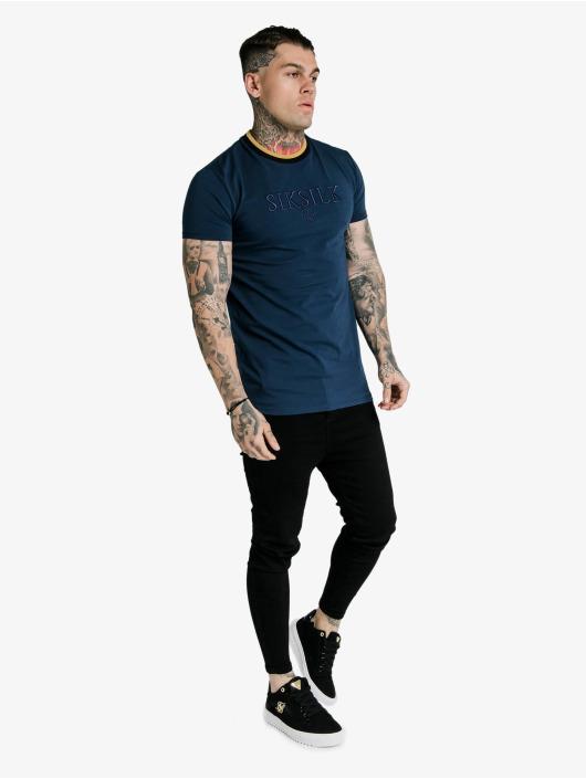 Sik Silk T-Shirt Hem Gym blau
