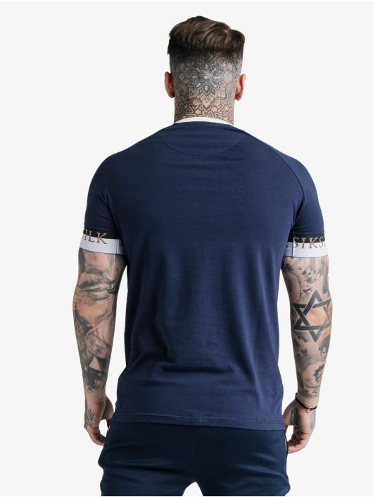 Sik Silk T-Shirt Deluxe Ringer Tech blau