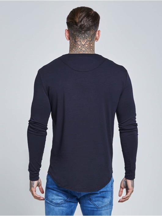 Sik Silk t-shirt Long Sleeve Gym blauw