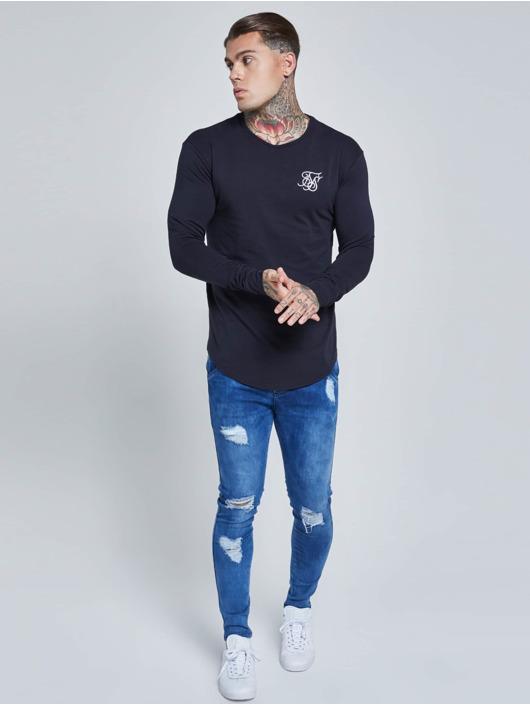 Sik Silk T-Shirt Long Sleeve Gym bleu