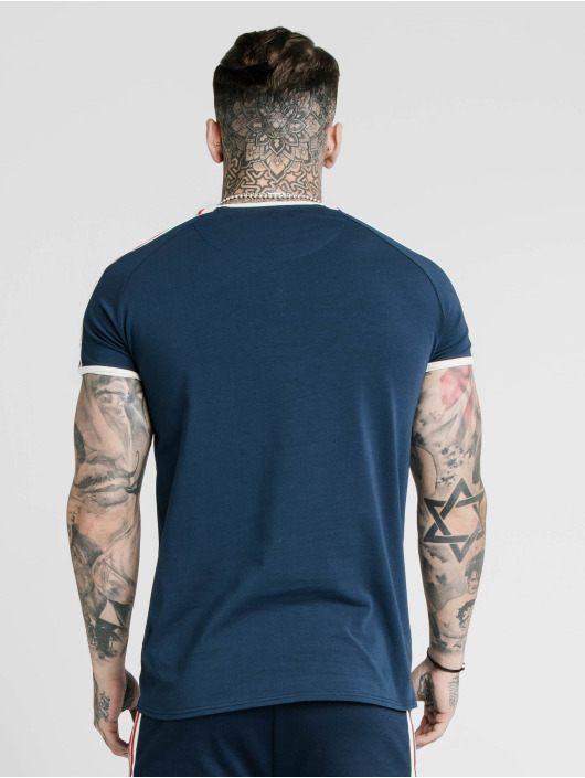 Sik Silk T-Shirt Retro Tape Gym bleu