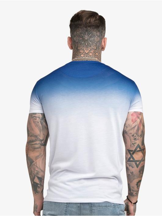 Sik Silk T-Shirt High Fade Embroidery Gym bleu