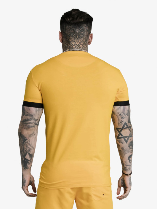 Sik Silk T-Shirt Inset Elastic Cuff Gym gelb