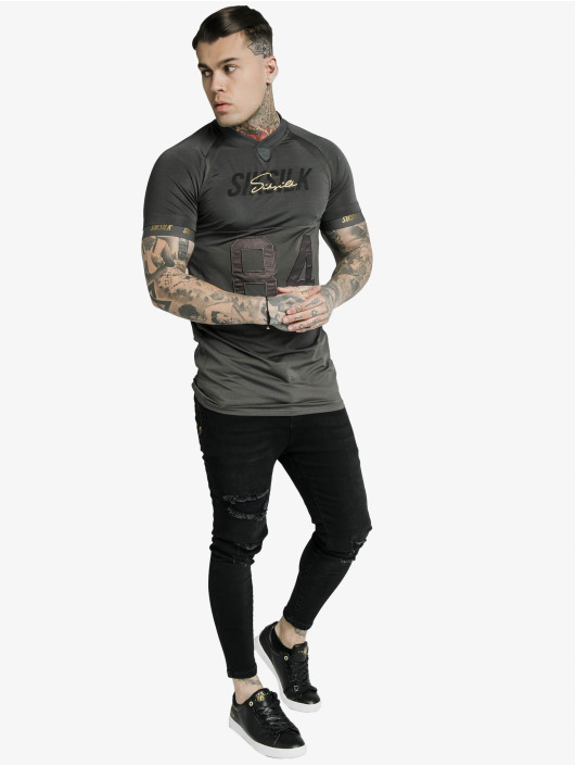 Sik Silk T-Shirt Marbel Stretch Sports grau