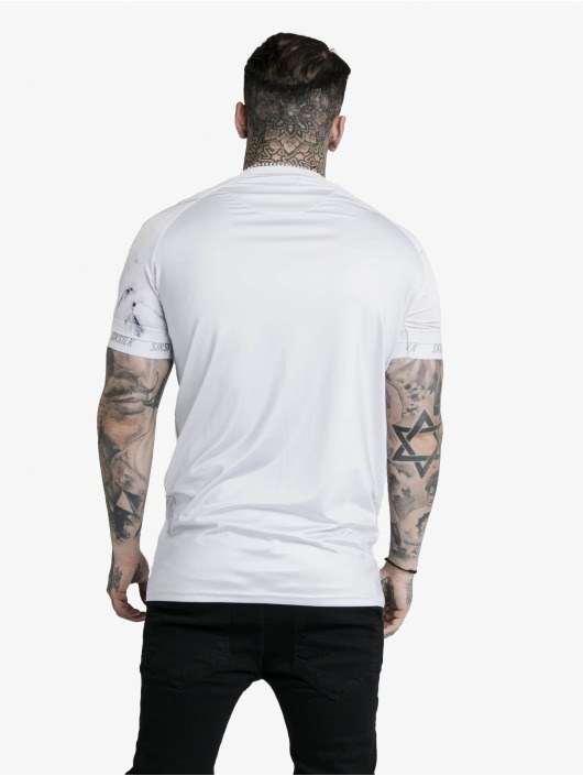 Sik Silk T-Shirt Marble Stretch Sports grau