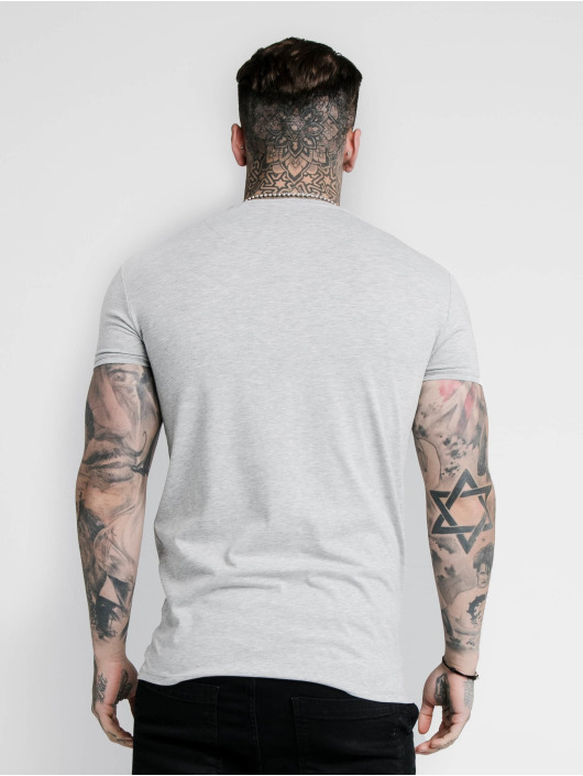 Sik Silk T-Shirt Hem Gym grey