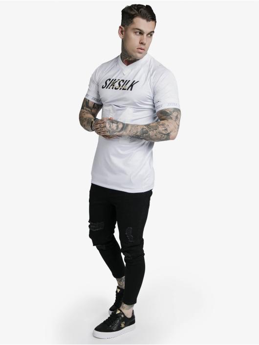 Sik Silk T-Shirt Marble Stretch Sports grey