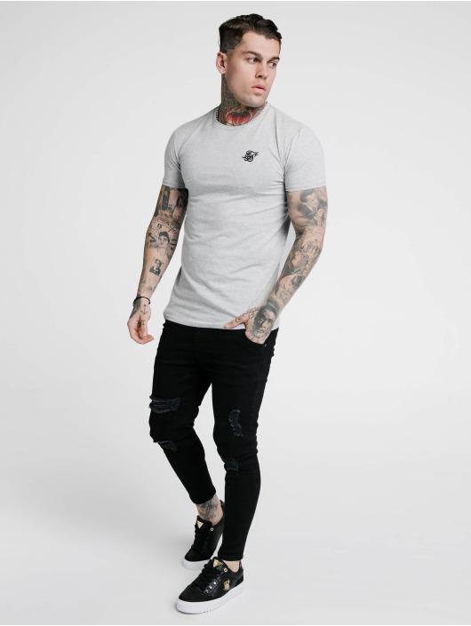 Sik Silk T-Shirt Hem Gym gris